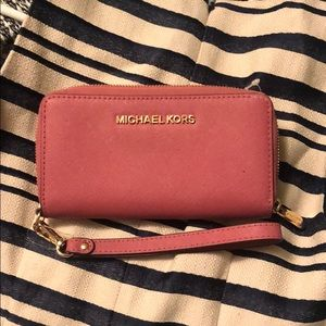 MICHAEL Michael Kors Bags - Pink Michael kors wallet with wristlet